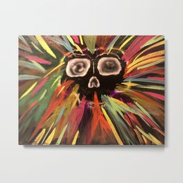 Colorful skull Metal Print