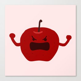 Vulgar Fruit // Angry Apple Canvas Print