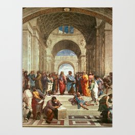 School Of Athens Painting Poster