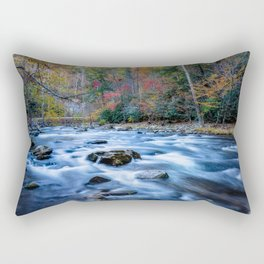 Fall in the Smokies - Autumn Colors at Laurel Creek in Smoky Mountains Rectangular Pillow