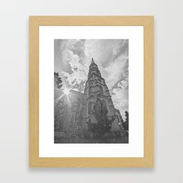 Saint Michaels Church Cluj Napoca Romania Framed Art Print