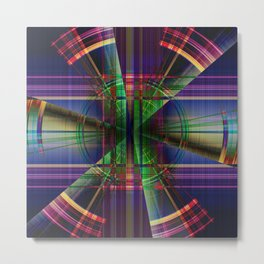 Plaid Movement 001 - Geometric - Unique Plaid - Colorful Plaid Metal Print