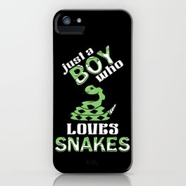 Just A Boy Who Loves Snakes Rattlesnake Lover iPhone Case
