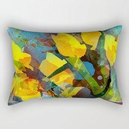 Modern tulips bouquet Rectangular Pillow