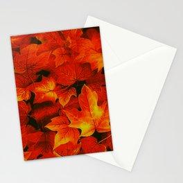 Autumn, Fall,Autumn Park,Leaves Fall,Orange Garden Stationery Cards
