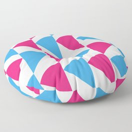 Pink and Blue Floor Pillow