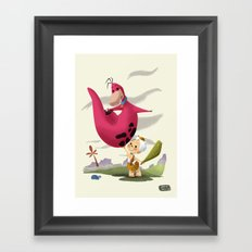 Bambam and Dino Framed Art Print