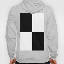 Black and White Squares - MINIMALIST DESIGN  IN LARGE BLACK AND WHITE CHECKS Hoody