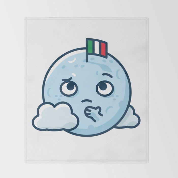 Confused Moon Throw Blanket