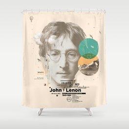 john lenon-imagine Shower Curtain