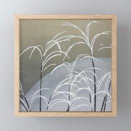 Vintage Minimal Japanse Style Artwork Muted Colors Framed Mini Art Print