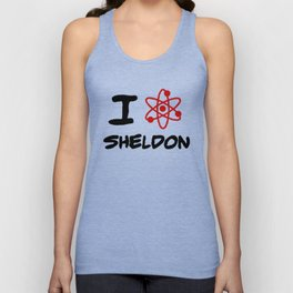 I love Sheldon Unisex Tank Top