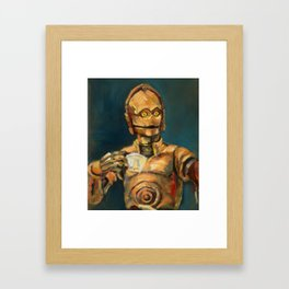 Robot coffee break Framed Art Print