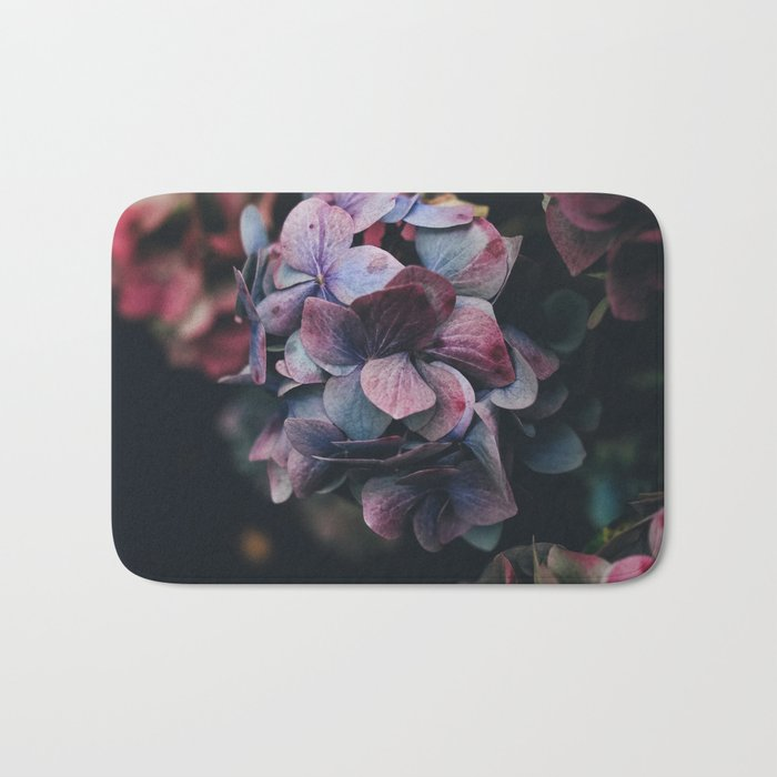 FLOWERS - FLORAL - PINK - RED - PHOTOGRAPHY Bath Mat