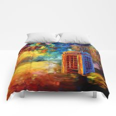 British red phone box iPhone 4 4s 5 5c 6 7, pillow case, mugs and tshirt Comforters
