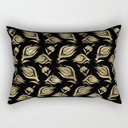 Turkish tulip - Ottoman tile pattern 3 Rectangular Pillow