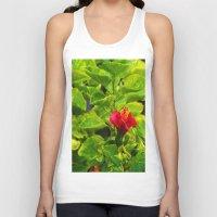 hibiscus Tank Tops featuring Hibiscus by Rachel Butler