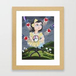 The Boogieman Stole Her Heart Framed Art Print