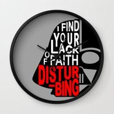 I Find Your Lack of Faith Disturbing Wall Clock