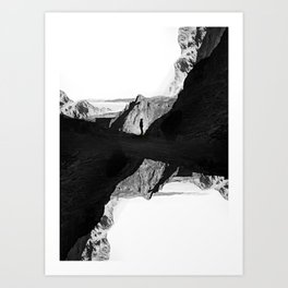 Man of isolation Art Print