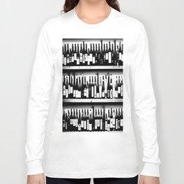 Wine Bottles in Black And White #decor #society6 #buyart Long Sleeve T-shirt