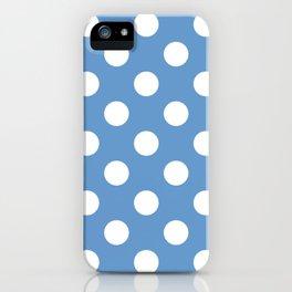 Livid - blue - White Polka Dots - Pois Pattern iPhone Case