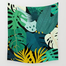 Tropical Jungle Leaves Wall Tapestry