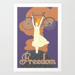 Bike For Freedom Art Print
