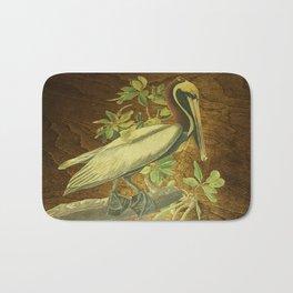 Beautiful pelican art Bath Mat