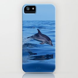 Spotted dolphin jumping in the Atlantic ocean iPhone Case