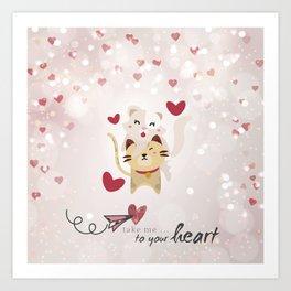 Take me to your heart Art Print
