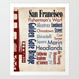 Travel - San Francisco Art Print