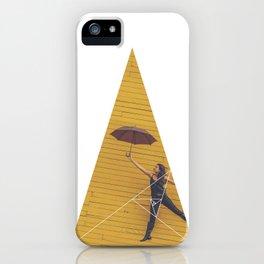 Air Umbrella Girl - Geometric Photography iPhone Case
