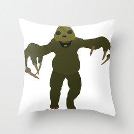 Slitheen Throw Pillow