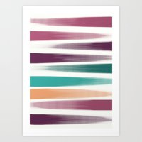 the strokes Art Prints featuring Brush strokes by eDrawings38