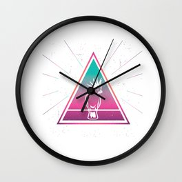 Colorful Cockatoo Geometrical Triangle Parrot Retro Style graphic Wall Clock