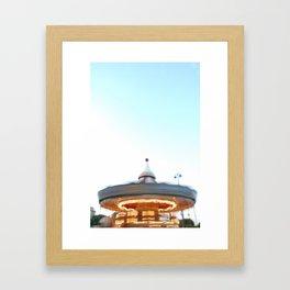 Paris Carousel in Motion Framed Art Print