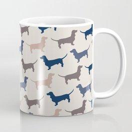 Elegant Dachshunds Pattern Coffee Mug