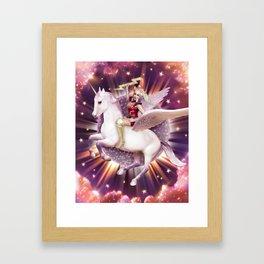 Andora: Drag Queen Riding a Unicorn Framed Art Print