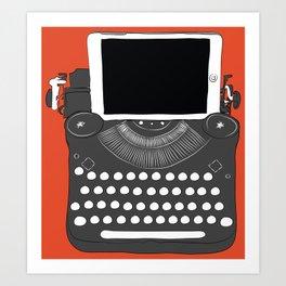 Handwriting Machine Art Print