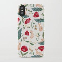 Ramona Poppy off-white iPhone Case