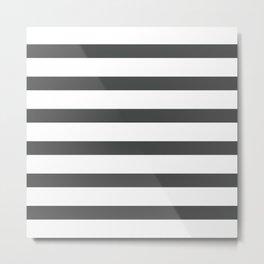 Dark Grey Stripes on White Background Metal Print