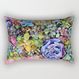 Salmon and Soil Rectangular Pillow