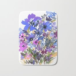 Heavenly Blues and Purples Bath Mat