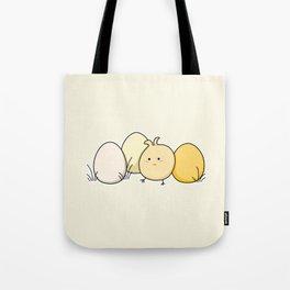 Cute Kawaii Easter Chick and Eggs Tote Bag