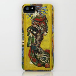 Courtesan by Vincent van Gogh, 1887 iPhone Case