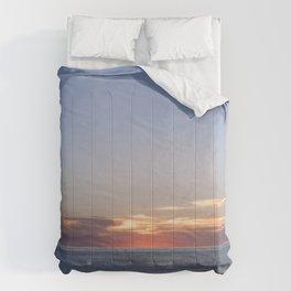 Sunset at Etretat, France Comforters