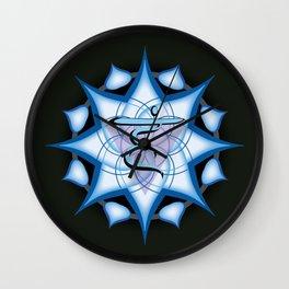 Throat Chakra on black Wall Clock