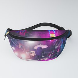 Purple Cyberpunk Fanny Pack