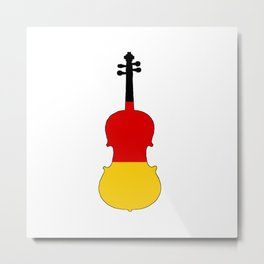 German Flag - Viola Metal Print